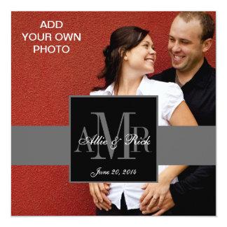 Engagement Photo Wedding Invitations Monograms