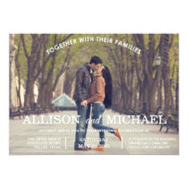 Engagement Photos Wedding Invitation