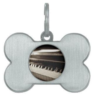 Engagement Piano Keys Pet ID Tag