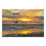 Engagement Proposal Sunrise on the Beach Poster