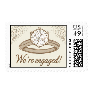 Engagement Ring 1-Gold by Ceci New York Postage