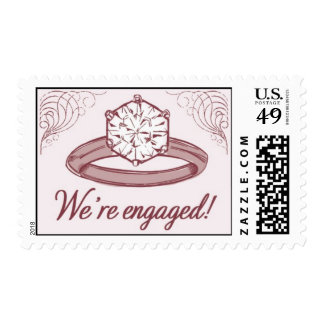 Engagement Ring 1-Pink by Ceci New York Postage Stamps
