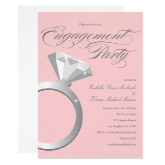 Engagement Ring - Blush | Engagement Party Invite
