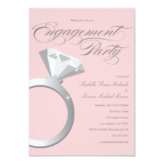 Engagement Ring - Blush   Engagement Party Invite