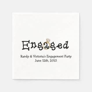 Engagement Ring Engagement Party Paper  Napkins at Zazzle