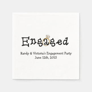 Engagement Ring Engagement Party Paper  Napkins