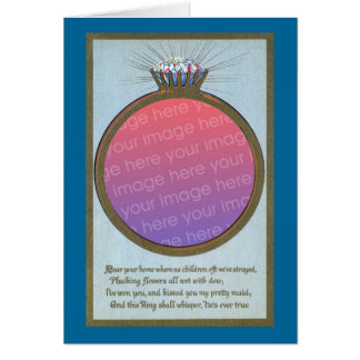 Engagement Ring Frame Greeting Cards