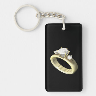 Engagement Ring Keychain