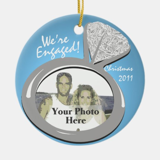 Engagement Ring Photo Ceramic Ornament