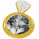 "Engagement Ring Photo ornament<br><div class=""desc"">Add your favorite photo to this photo engagement ring ornament.  Perfect keepsake for your 1st Christmas tree and makes a great gift for family.</div>"