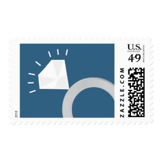 Engagement Ring Postage Stamp