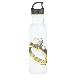 Engagement Ring Stainless Steel Water Bottle