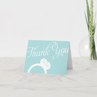Engagement Ring Thank You Cards card