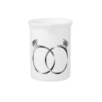 Engagement rings- signs of matrimony beverage pitcher