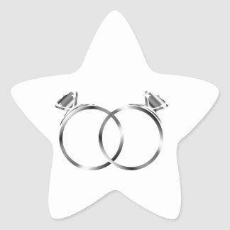Engagement rings- signs of matrimony star sticker