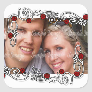 Engagement seals photo PERSONALIZE Square Sticker