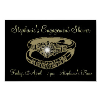 Engagement Shower Customisable Poster