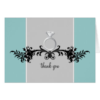 Engagement Shower Thank You Cards {Teal}