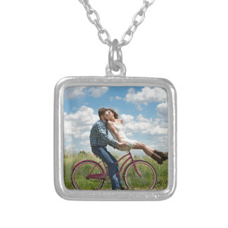 engagement silver plated necklace