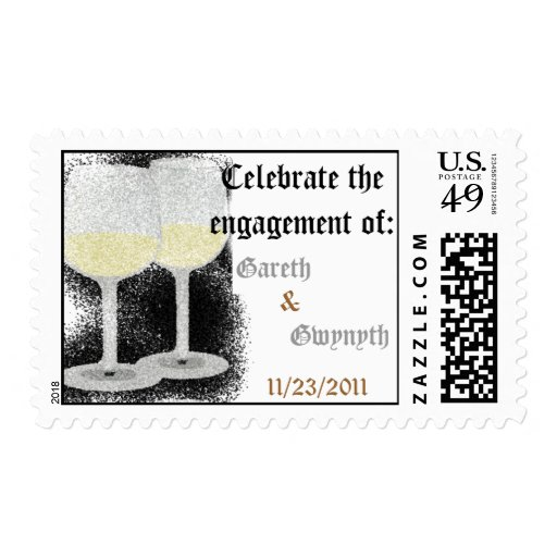 Engagement Stamp (Champagne Glasses)