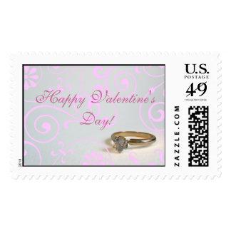 Engagement Valentine Stamp
