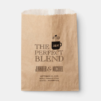 Engagement Wedding Coffee or Tea Buffet Favor Bags
