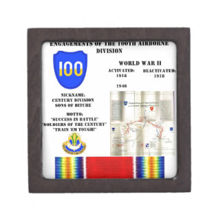 Engagements of  the 100th Airborne Division Jewelry Box