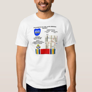 Engagements of  the 100th Airborne Division T Shirt