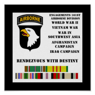 Engagements of the 101st airborne division poster