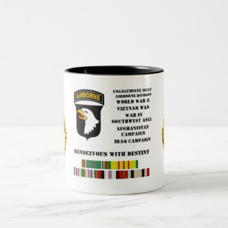 Engagements of the 101st airborne division Two-Tone coffee mug