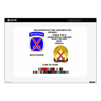 """Engagements of  the 10th Mountain division 15"""" Laptop Skin"""
