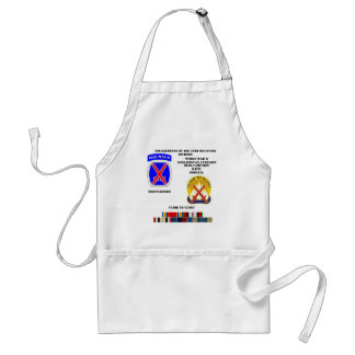 Engagements of  the 10th Mountain division Adult Apron