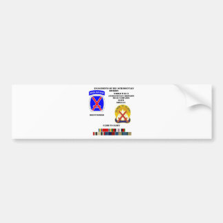 Engagements of  the 10th Mountain division Bumper Sticker