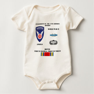 Engagements of  the 11th Airborne Division Baby Bodysuit