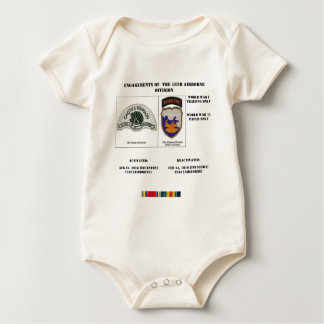Engagements of the 18th Airborne Division Baby Bodysuit