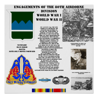 Engagements of  the 80th Airborne Division Poster