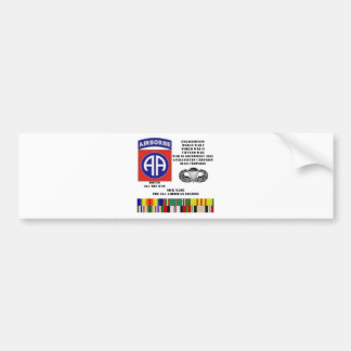 Engagements of  the 82nd  airborne division bumper sticker