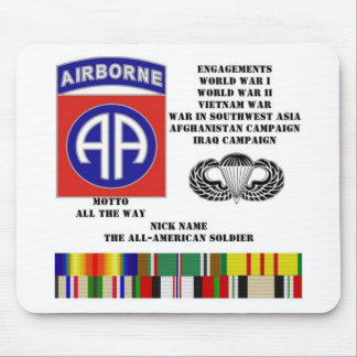 Engagements of  the 82nd  airborne division mousepads