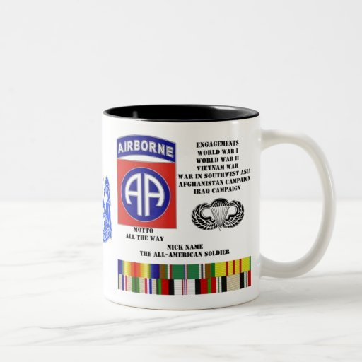 Engagements of  the 82nd  airborne division coffee mug