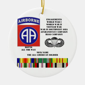 Engagements of  the 82nd  airborne division ornament