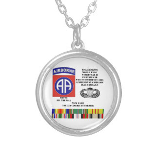 Engagements of  the 82nd  airborne division silver plated necklace