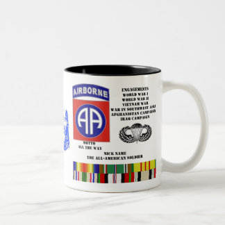 Engagements of  the 82nd  airborne division Two-Tone coffee mug