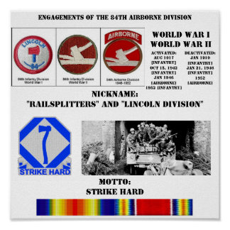 Engagements of  the 84th Airborne Division Poster