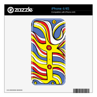 Engaging Witty Handsome Instinctive iPhone 4 Decal