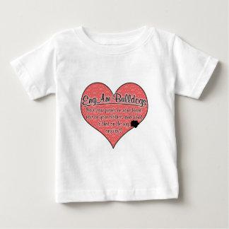 EngAm Bulldog Paw Prints Dog Humor Baby T-Shirt