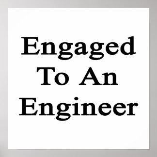Enganchado a un ingeniero póster