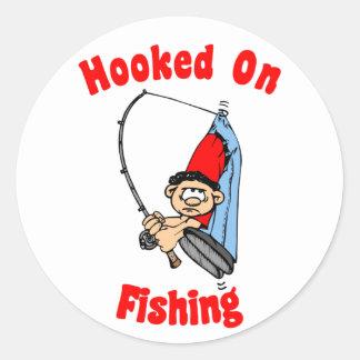 Enganchado en el pegatina de la pesca