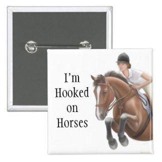 Enganchado en el Pin de los caballos Pin Cuadrada 5 Cm