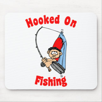 Enganchado en la pesca de Mousepad Tapete De Ratón