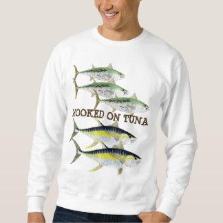 Enganchado en la pesca del atún para el tono sudadera